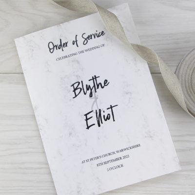 Blythe Order of Service