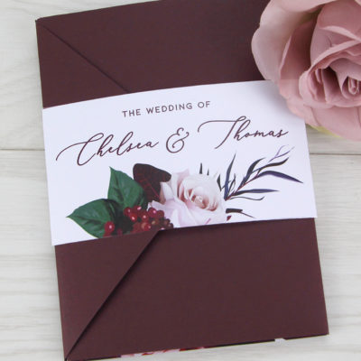 Chelsea Pocketfold Wedding Invitation