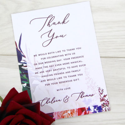 Chelsea Thank you Card