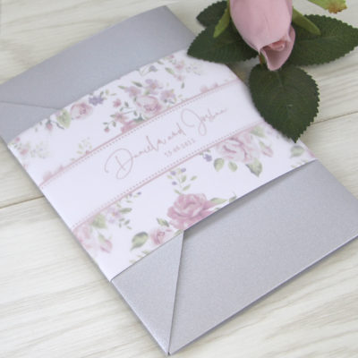 Daniela Pinks Pocketfold Wedding Invitation