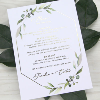 Frankie Greenery Menu