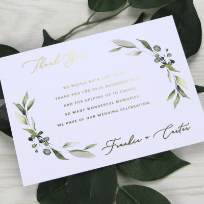 Frankie Greenery Thank you Card