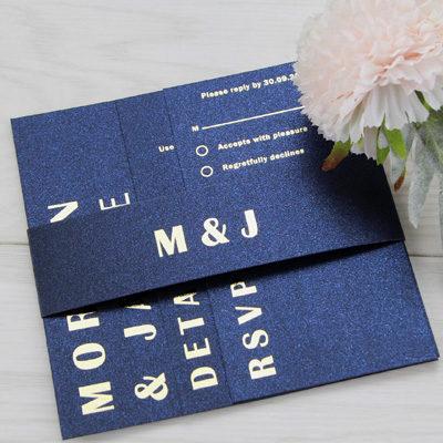 Foiled Wedding Invitation