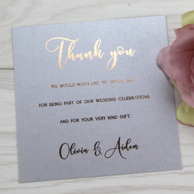 Olivia Thank you Card