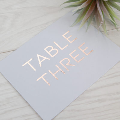 Larissa Table Name / Number
