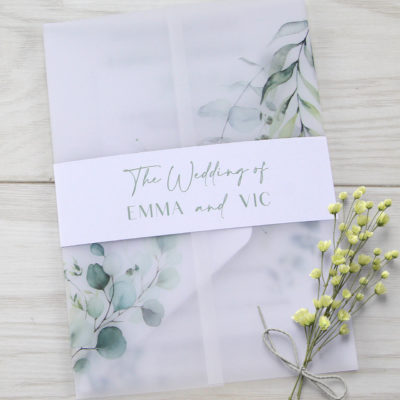 Emma Wedding and Evening Invitation