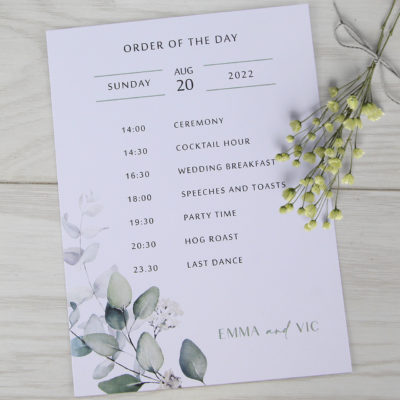 Emma Order of the Day