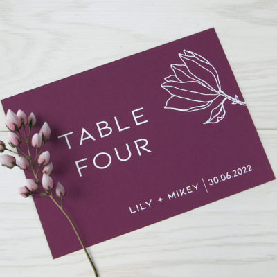 Lily Table Name / Number