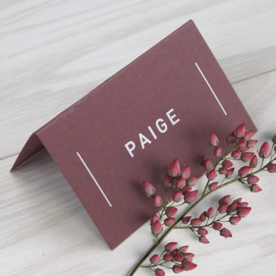 Paige Place Card