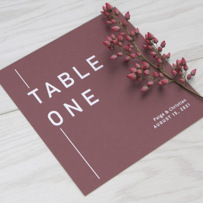 Paige Table Name / Number