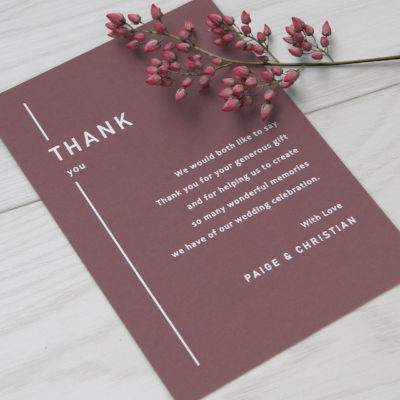 Paige Thank you Card