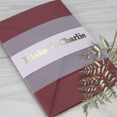 Blake Pocketfold Wedding Invitation