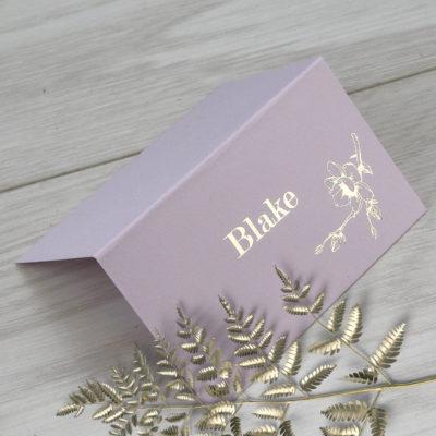 Blake Place Card