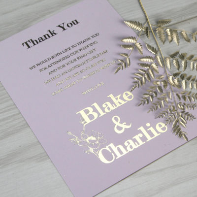 Blake Thank you Card