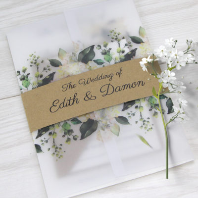 Edith Wedding and Evening Invitation