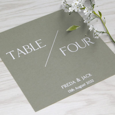Freda Table Name / Number
