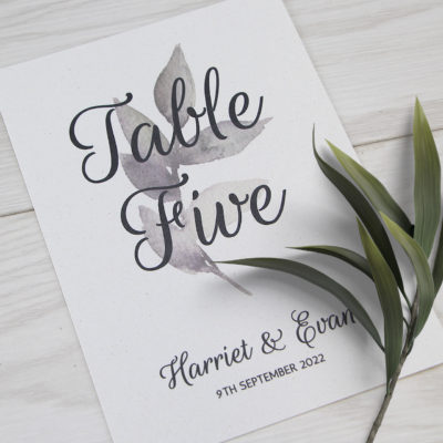 Harriet Table Name / Number