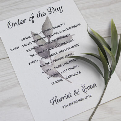 Harriet Order of the Day
