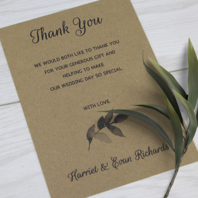 Harriet Thank you Card