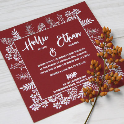 Hollie Wedding and Evening Invitation
