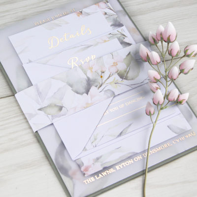 Jenna Wedding and Evening Invitation