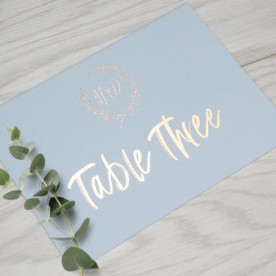 Maddison Table Name / Number
