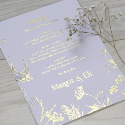 Margot Menu