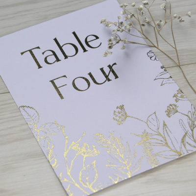Margot Table Name / Number