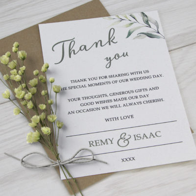 Remy Thank you Card