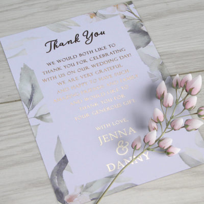 Jenna Thank you Card