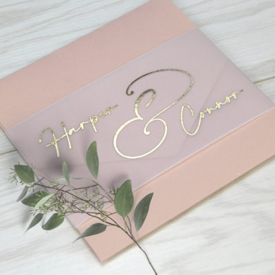 Harper Wrap Wedding Invitation