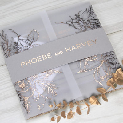 Phoebe Wedding and Evening Invitation