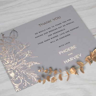 Phoebe Thank you Card