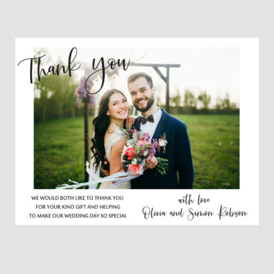 Photo Thank you Card 001