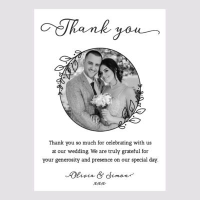 Photo Thank you Card 008