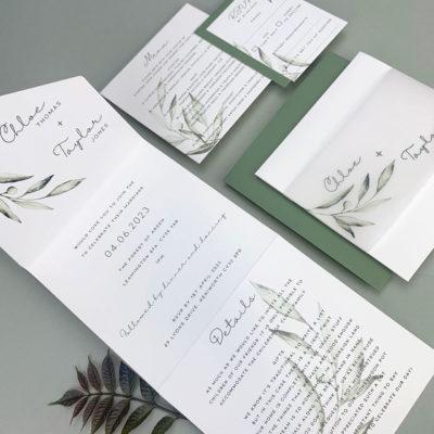 Chloe Wrap Wedding Invitation