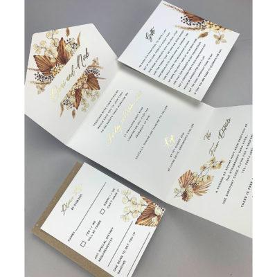 Demi Wrap Wedding Invitation