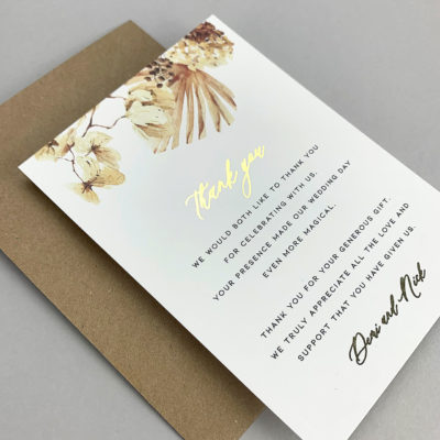 Demi Thank you Card