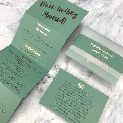 Jamie Trifold Wedding Invitation