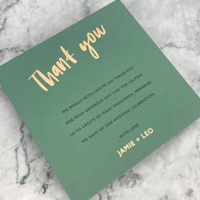 Jamie Thank you Card