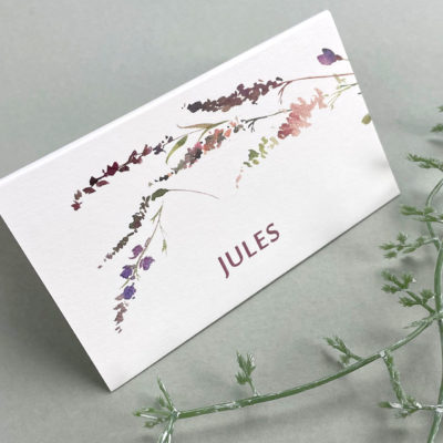 Jules Place Card