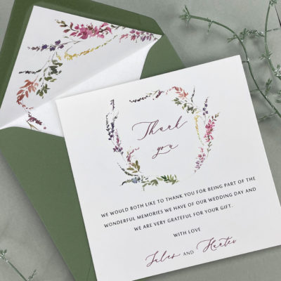 Jules Thank you card