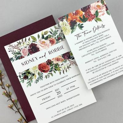 Sidney Claret Parcel Invitation