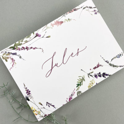 Jules Table Name / Number