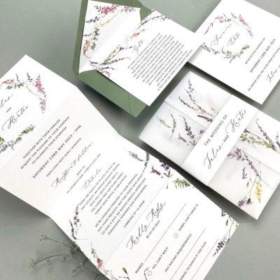 Jules Trifold Wedding Invitation