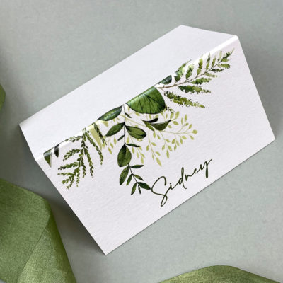 Sidney Greenery Place Card