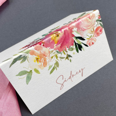 Sidney Pinks Place Card