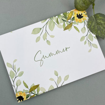 Summer Table Name / Number
